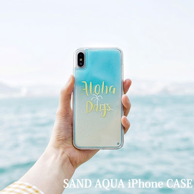 SUMMER VIBE ALOHA AQUA SAND iPhone case