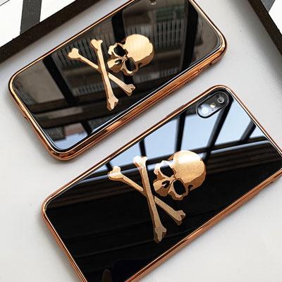 GOLD SKULL FRAME PHONE CASE/ iPhone case