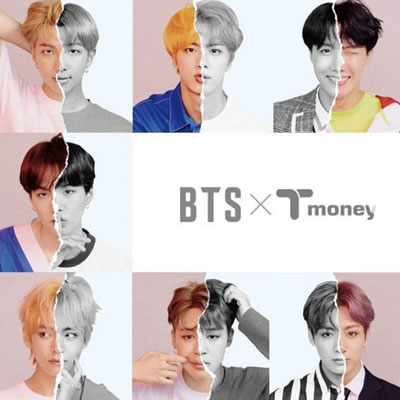 《Free Shipping》[Limited][BTS×CU]防弾少年団(BTS) T Money Card [Traffic Card]-copy