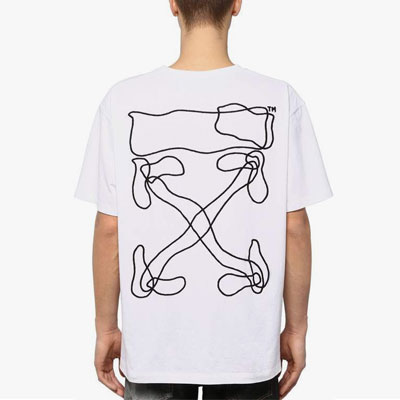 [UNISEX]WAVE ARROW EMBROIDERY SHORT SLEEVE T-SHIRTS(2color)
