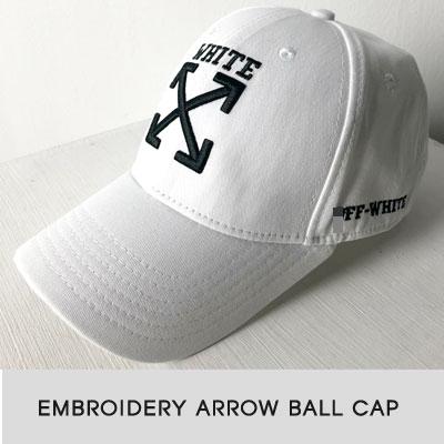 [UNISEX]EMBROIDERY ARROW BALL CAP(2color)