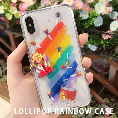 LOLLIPOP RAINBOW CASE (iPhone,galaxy)