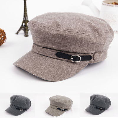 [UNISEX]NATURAL LINEN HUNTING CAP(3color)
