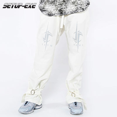 【SETUP-EXE】Bondage buckle Pants - ivory