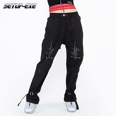 【SETUP-EXE】Bondage buckle Pants - black