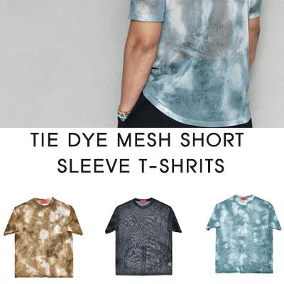 [UNISEX]TIE DYE MESH SHORT SLEEVE T-SHRITS