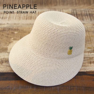 PINEAPPLE POINT STRAW HAT (2color)