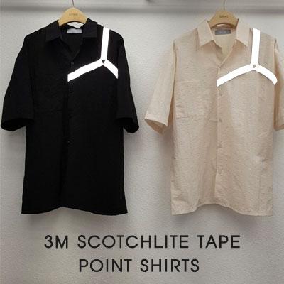[UNISEX]ARROW BACK REFLECTIVE POINT SHORT SLEEVE T-SHIRTS(4color)-copy