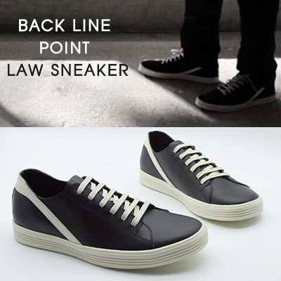 24.5~ 28.0cm]BACK LINE POINT LAW SNEAKER--black-copy