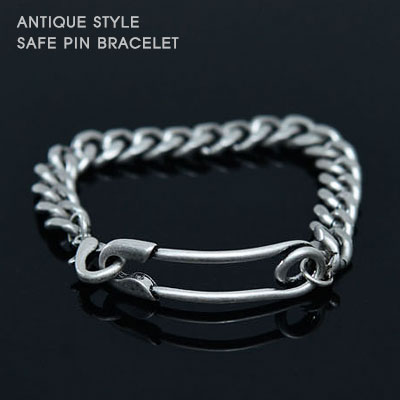 ANTIQUE STYLE SAFE PIN BRACELET