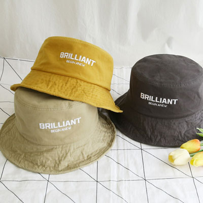 [UNISEX]BRILLIANT LOGO BUCKET HAT(5color)