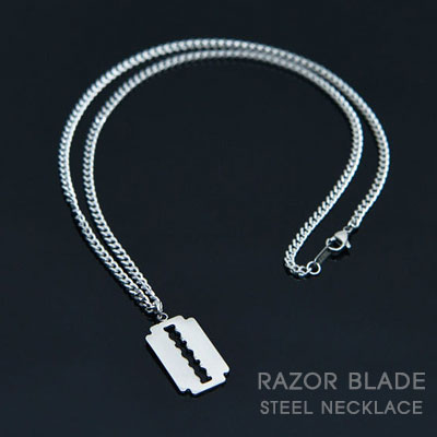 [UNISEX]STEEL RAZOR BLADE NECKLACE