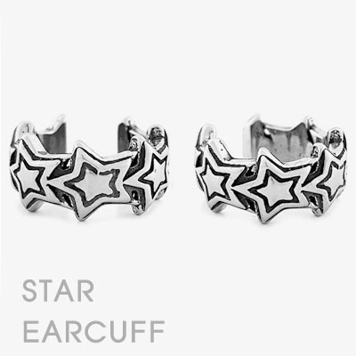 [SURGICAL STEEL]  [1ea] STAR EAR CUFF