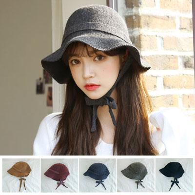 [UNISEX]CUTIE WOOL MIX BONNET BUCKET HAT(5color)