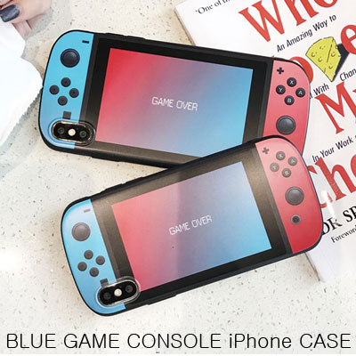 RED BLUE GAME CONSOLE CASE