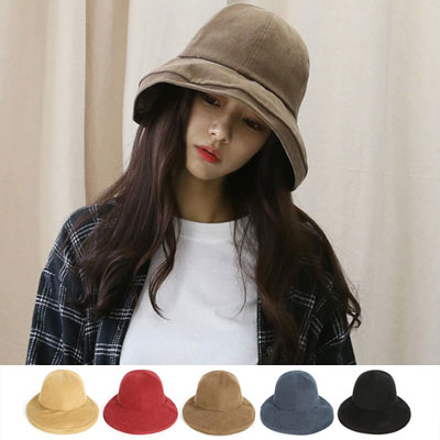 [UNISEX]PEACH TOUCH OVER SIZE BUCKET HAT(5color)