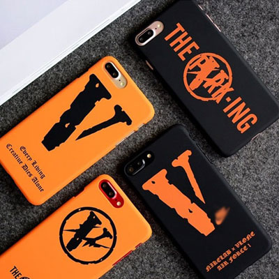 ORANGE BLACK V PHONE CASE (4type)