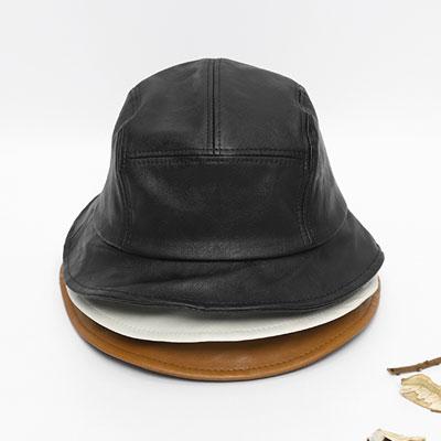 [UNISEX]LETHER LABEL BUCKET HAT(3color)