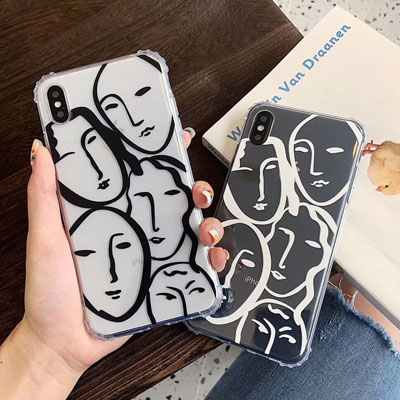 WOMEN FACE JELLY iPhone CASE (2color)