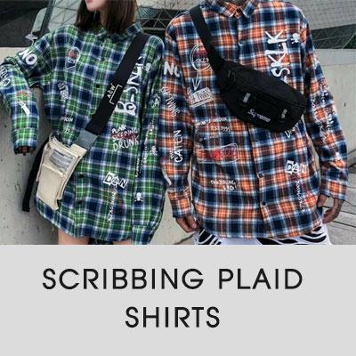 [UNISEX]SCRIBBING PLAID SHIRTS(2color)