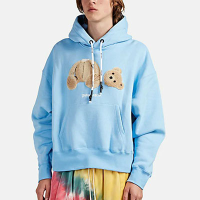 [UNISEX]DEMAGE BEAR PULLOVER HOODIE(4color)