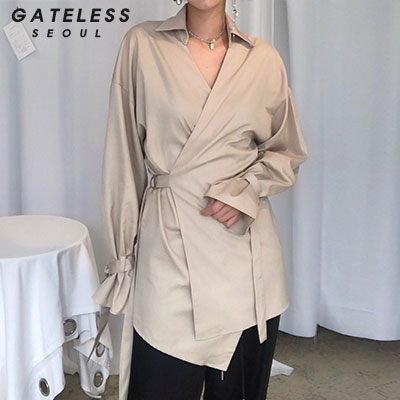 【GATELESS】TRENCH STYLE SHIRTS(2color)