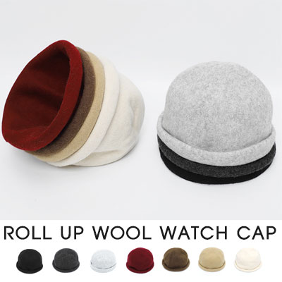 [UNISEX]WOOL ROLL UP WOOL WATCH CAP(7color)