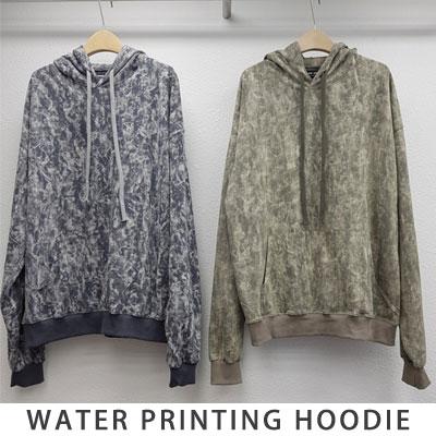 [UNISEX] WATER PRINTING HOODIE (2color)