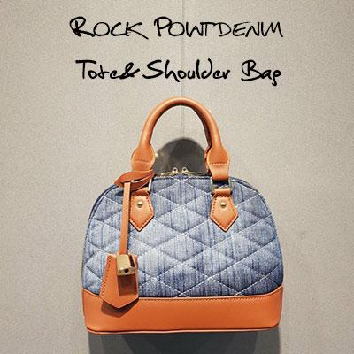 LOCK POINT DENIM TOTE&SHOULDER BAG