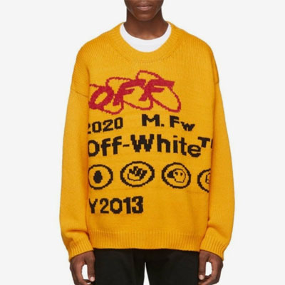[UNISEX]MARK&LETTERING YELLOW KNIT(2color)
