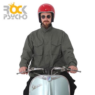 【ROCK PSYCHO】M65 WIDE FIT FIELD JACKET -khaki