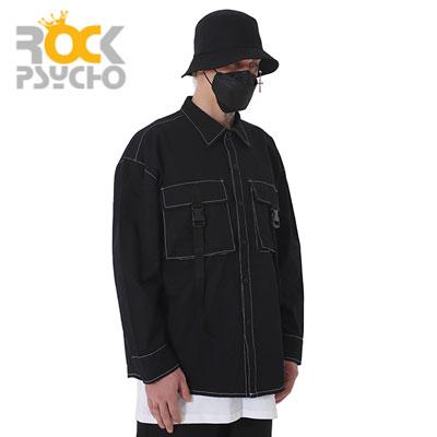 【ROCK PSYCHO】BUCKLE LONG SLEEVE SHIRTS