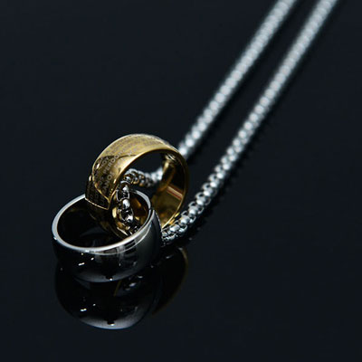[UNISEX]LORD'S PRAYER RING NECKLACE(2color)