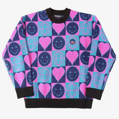 [UNISEX]PARAGRAPH SMILE JACQUARD KNIT(2color)