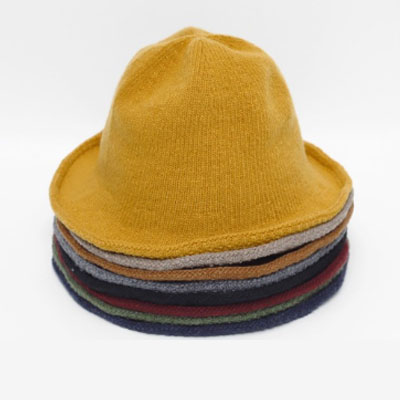 [UNISEX]]WOOL NATURAL FIT KNIT BUCKET HAT(8color)
