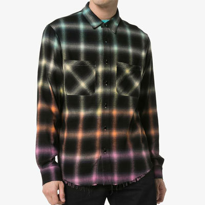 [UNISEX]COLOR GRADIENT PLANNEL SHIRTS