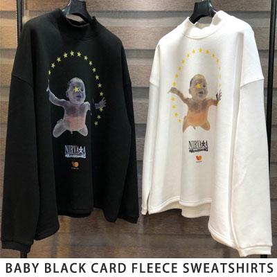 [UNISEX] BABY BLACK CARD FLEECE SWEATSHIRTS (2color)