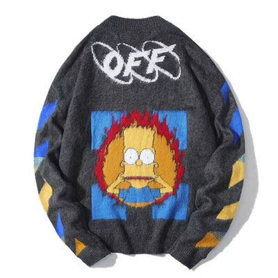 [UNISEX] FIRE SIMPSON GREY KNIT
