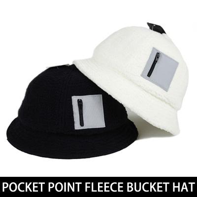 [UNISEX] POCKET POINT FLEECE BUCKET HAT (2color)