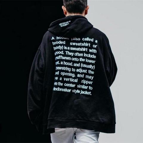 ★NEW VER.★BACK TYPO STITCH  EMBROIDERY HOODIE
