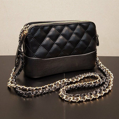 [UNISEX] QUILTING 2COLOR CHAIN SHOULDER BAG/CROSS BAG