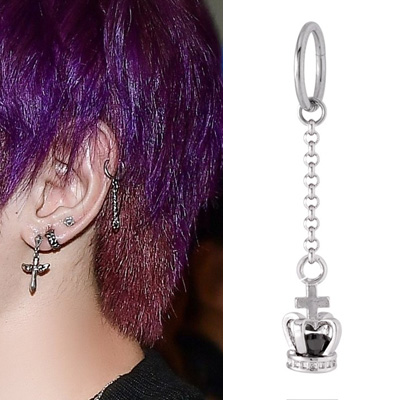 [UNISEX] NCT st. BLACK CROWN DROP PIERCE (3type)