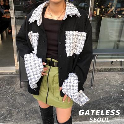 【GATELESS】TWEED WOOL POCKET SHIRTS (2color)