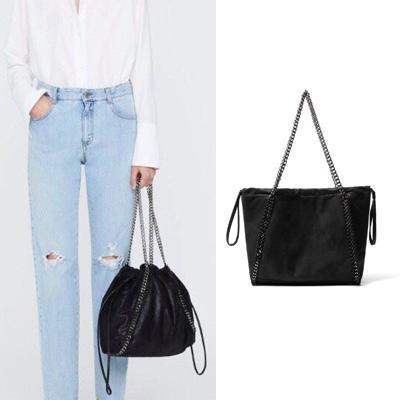 [UNISEX] SIMPLE CHAIN STRAP BUCKET BAG/SHOULDER BAG