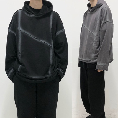 [UNISEX] REWORK SEWING LINE HOODIE (2color)
