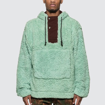 [UNISEX] BIG POCKET BOA FUR HOODIE (2color)
