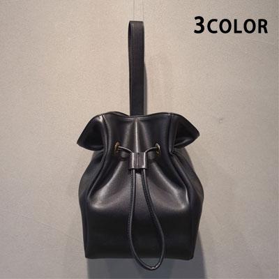 SIMPLE BASIC BUCKET TOTE BAG/SHOULDER BAG (3color)