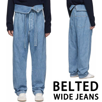 [UNISEX] BELTED WIDE JEANS (2size)