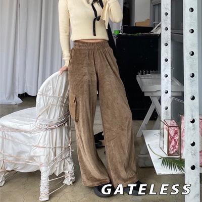 【GATELESS】VELOUR WIDE PANTS (2color)