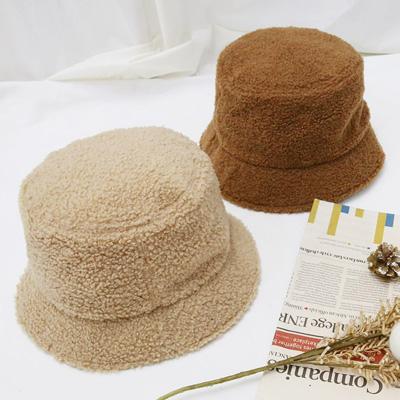 [UNISEX] BOA FUR BUCKET HAT (4color)